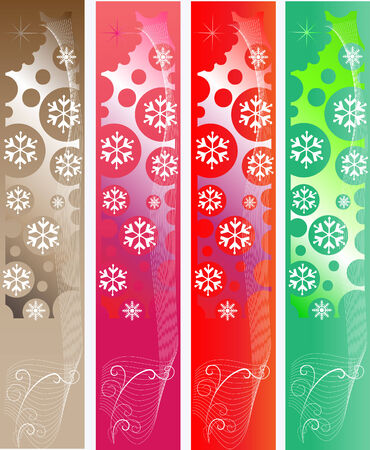 Abstract Christmas Banners Ilustracja