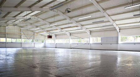 Modern empty warehouse photo