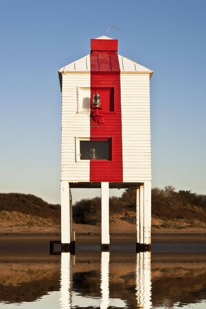 View of Burnham-on-Sea wooden lighthouse