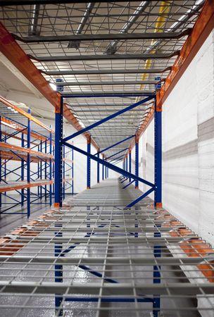 empty warehouse racks photo