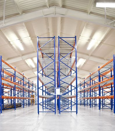 racks: empty warehouse racks