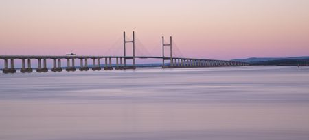 superstructure: Second Severn Crossing at Dawn