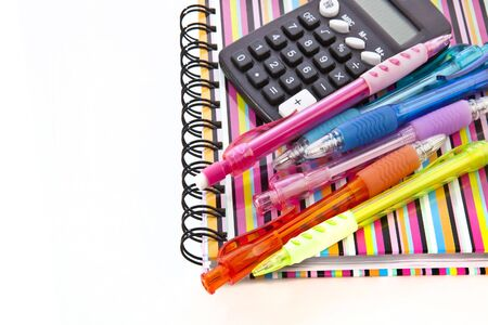 Back to school. Notepad with school supplies. Stock Photo - 8052139