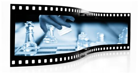 Chess Move Film Strip Stock Photo