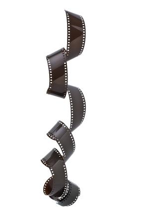 rollo pelicula: Tira de película de 35 mm aisladas sobre fondo blanco