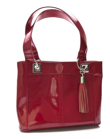 red purse: Red Hand Bag isolated over white
