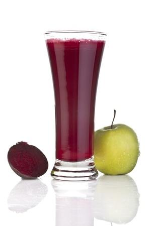beet juice: Fresh apple and beetroot juice