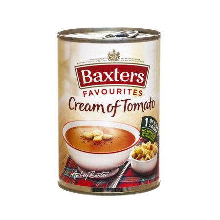 Swindon, Großbritannien - 26. Februar 2014: Tin Of Baxters Tomatencremesuppe auf einem weißen Hintergrund