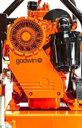 vac: SWINDON, UK - FEBRUARY 16, 2014: Godwin Vac Prime Pump on a white background Editorial