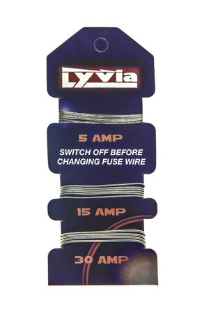 packshot: SWINDON, UK - MARCH 21, 2014: Card of Lyvia Fuse Wire on a white background