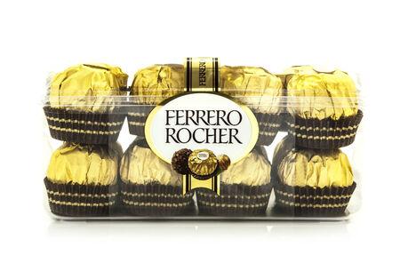 ferrero: SWINDON, UK - MARCH 2, 2014: Ferrero Rocher Chocolates on a white background Editorial