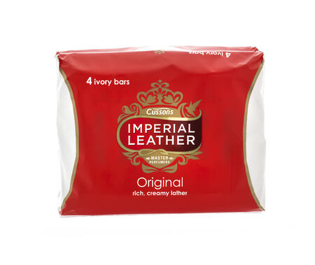 packshot: SWINDON, UK - MARCH 28, 2014: Cussons Imperial Leather Soap on a white background