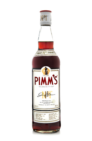 packshot: SWINDON, UK - MARCH 30, 2014: Pimms the original No 1 cup on a white background