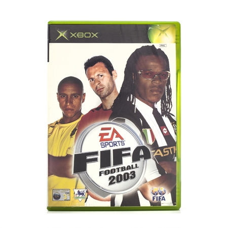 xbox: SWINDON, UK - DECEMBER 29, 2014: FIFA 2003 by EA Sports for the XBox console