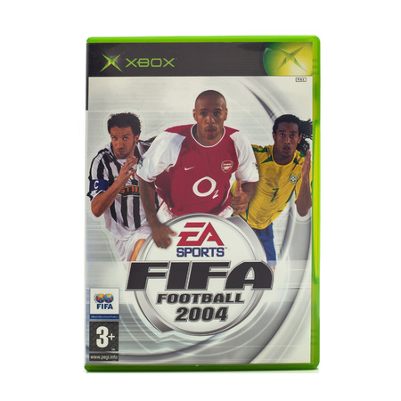 xbox: SWINDON, UK - DECEMBER 29, 2014: FIFA 2004 by EA Sports for the XBox console Editorial