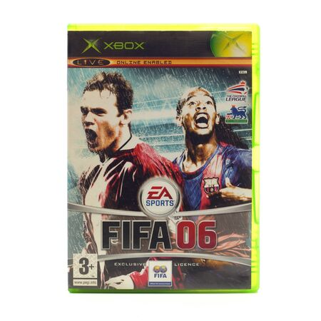 xbox: SWINDON, UK - DECEMBER 29, 2014: FIFA 2006 by EA Sports for the XBox console