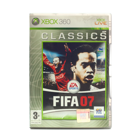 xbox: SWINDON, UK - DECEMBER 29, 2014: FIFA 2007 by EA Sports for the XBox console
