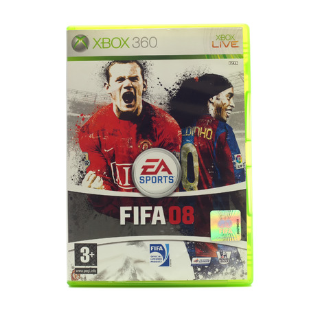 xbox: SWINDON, UK - DECEMBER 29, 2014: FIFA 2008  by EA Sports for the XBox console Editorial