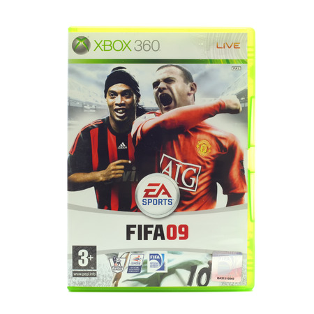 xbox: SWINDON, UK - DECEMBER 29, 2014: FIFA 2009 by EA Sports for the XBox console