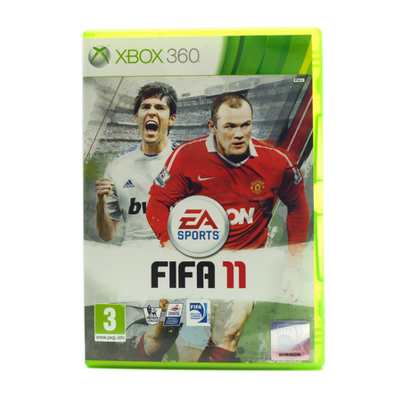 xbox: SWINDON, UK - DECEMBER 29, 2014: FIFA 2011 by EA Sports for the XBox console