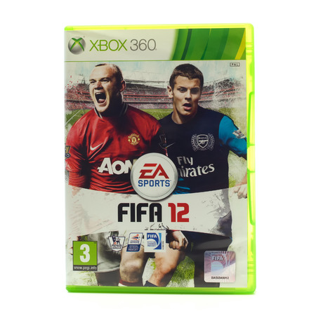 xbox: SWINDON, UK - DECEMBER 29, 2014: FIFA 2012 by EA Sports for the XBox console