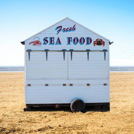 weston super mare: Sea Food Stall on Weston-Super-Mare Beach