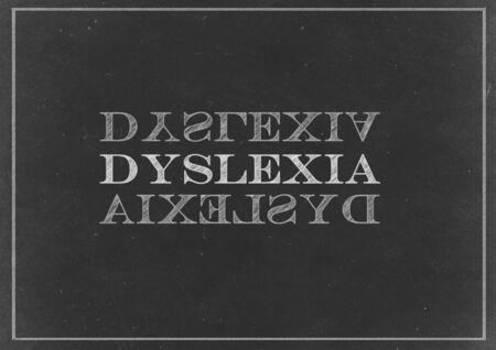 dyslexia: Chalk drawing -  Dyslexia