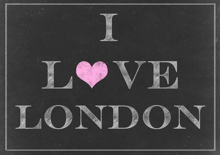 Chalk drawing - I love London sign photo