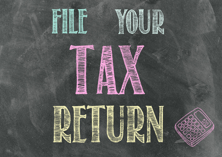 negative returns: File Your Tax Return Stock Photo