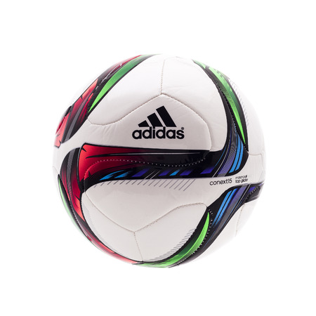 womans: SWINDON, UK -MARCH 6, 2015: Adidas CONEXT 15 Top Glider Football for the 2015 Womans World Cup in Canada, The CONEXT 15 Top Glider is the offical Match Ball for the Compitition