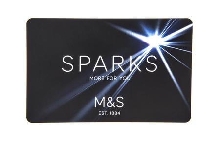 spencer: SWINDON, UK - DECEMBER 4, 2016: Marks & Spencer Sparks card on white background
