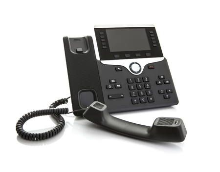 Modern Business Office IP Telephone on a white background Stock Photo