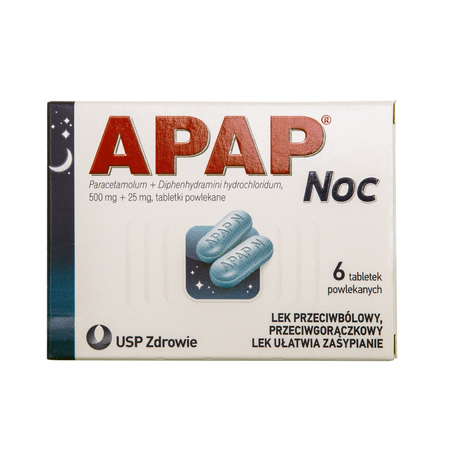 SWINDON, UK - MAY 19, 2018: Packet of APAP Night is an analgesic and antipyretic, which combines the effects of paracetamol with a sedative.