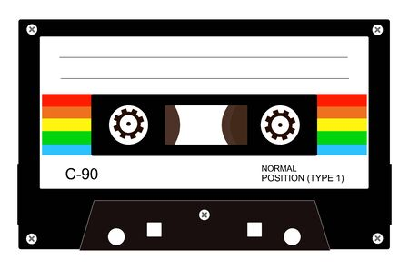 Retro audio cassette tape vector