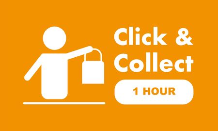 Click & Collect internet shopping consept