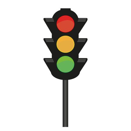 Traffic light vector drawing on a white background