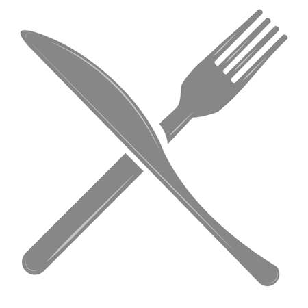 Fork and Knife vector illustration isolated on a white background