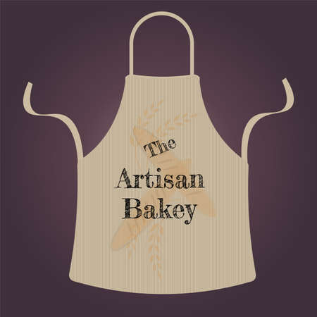 Artisan Bakery Apron Vecto Logo with editable text on a gradient background Logo
