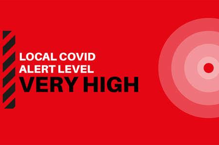 Very High Local Covid Alert Level Vector Illustration Ilustração