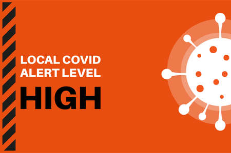 High Local Covid Alert Level (Tier 2) Vector Illustration