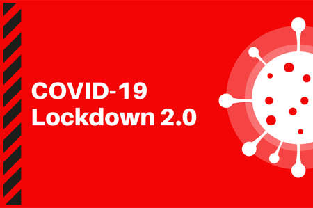 UK Covid-19 Lockdown 2.0 vector illustration
