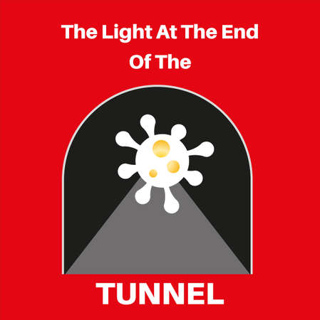 The Light Of At the End Of The Tunnel - COVID virus end concept