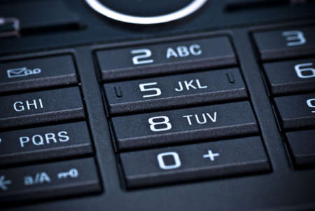 A closeup of the keypad of a mobile phone