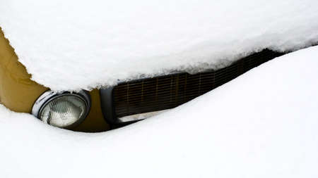 carfront in snow