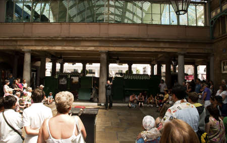 A street performer in Covent garden, London. picture taken 2010-07-10