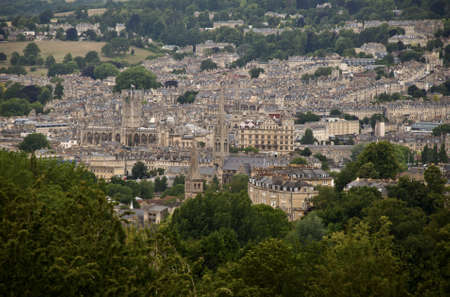 The city of Bath in the southeastern parts of England