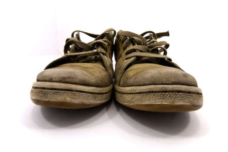 closeup of a pair of worn sneakers Stock Photo - 7859161