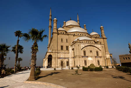 stronghold: Exterior of the Muhammad Ali mosque in Cairo Stock Photo
