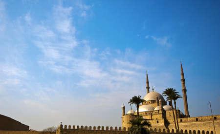 cairo: Exterior of the Muhammad Ali mosque in Cairo Stock Photo