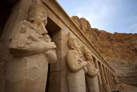 a stone statues in the karnak temple in luxor